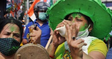 photos,-india-assembly-elections-2021-results:-subdued-poll-celebrations-amid-covid-19-surge